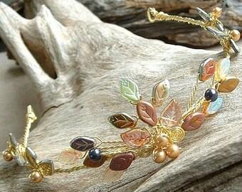 ON SALE Queen Titania Tiara Gold Fairy Crown