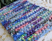 Pet mat - colorful rag rug - playroom rug - small rug - rug for porch - bathmat - bath mat