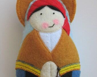 Saint Bernadette  Felt Saint Softie