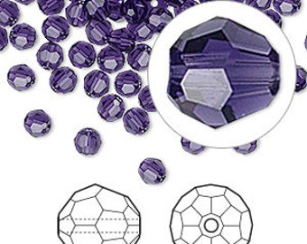 Swarovski Crystal beads 4 MM PURPLE VELVET (16) 5000 round