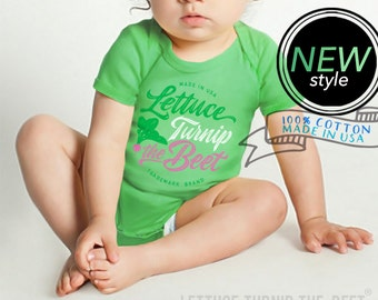 lettuce turnip the beet ® trademark brand OFFICIAL SITE - green bodysuit with new logo