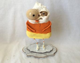 Seek the zombie CandyCorn Ooak  art doll