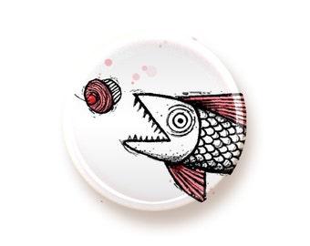 Fishcakes - round magnet