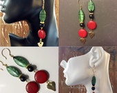 Afrocentric Earrings,Fashion Jewelry