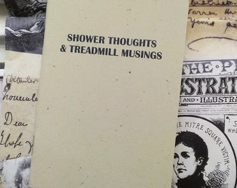NEW- Pocket Notebook- Shower Thoughts and Treadmill Musings