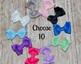 "2.5"" Basic Bow Set - Infant Bows - Toddler Bows"