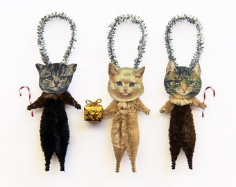 Cat Lover Gift - Christmas Cats Holiday Ornaments