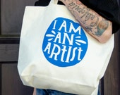 SALE: Lisa Congdon I Am an Artist Tote Bag