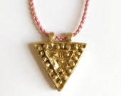 Triad Pendant Necklace - Yellow Brass