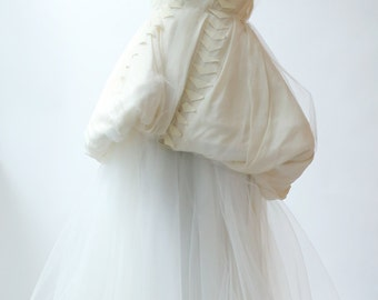 Sample Sale - silk and tulle 2 piece wedding dress.