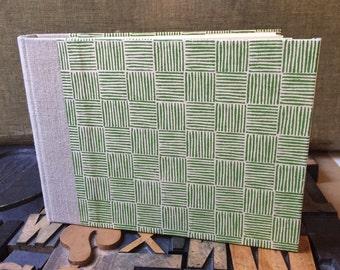 Photo Album - Small Green Basket Weave
