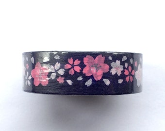 Japanese Masking Tape - Cherry Blossom Masking Tape - Cherry Blossom  Tape - Sakura Masking Tape  - Traditional Japanese - Blue Tape