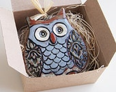 Ceramic Owl Ornament or Wall Hanging