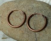 Antique copper spring hoop 12mm in diameter, 16 pcs (item ID ACSH12)