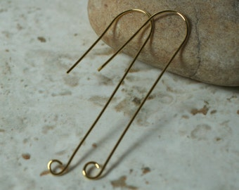 Gold plated hook earwire size 50x13mm 20g thick, 6 pcs (item ID YWXW01008GP)