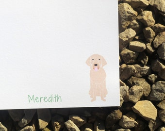 Yellow Lab Personalized Stationery - Gift Giving - Personalized Stationery - Notepads and Notecards