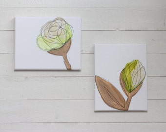 Chartreuse & Copper  - Nursery Decor