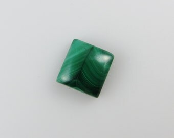 Malachite - Rectangle Cabochon, 10.25 cts - 11x12 (M114)