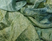 Hopper's World in  Hand Dyed Habotai Silk  for Nuno Felting