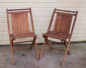 Folding chair Vintage Wood Camp  Revival Chair  Choice of one, two available Slatted Seats and Back