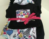 Clearance SALE ---- Size 10/12 Doll and Me Matching PJ's for  American Girl Doll and Little Girl, Matching Pajamas, Pajama Set