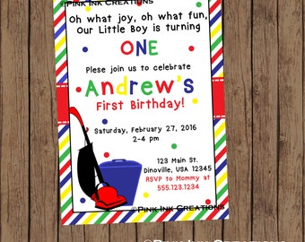 Vacuum Birthday Invitation / Cleaning Birthday Invitation / Vacuum Baby Shower Invitation /Vacuum Birthday Party/Vacuum Invitation/PRINTABLE