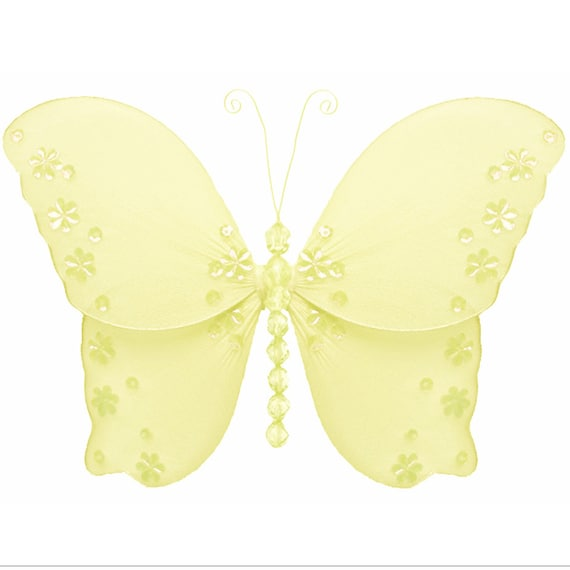 Hanging Butterfly Wall Decor : Butterfly decorations yellow butterflies decor hanging wall