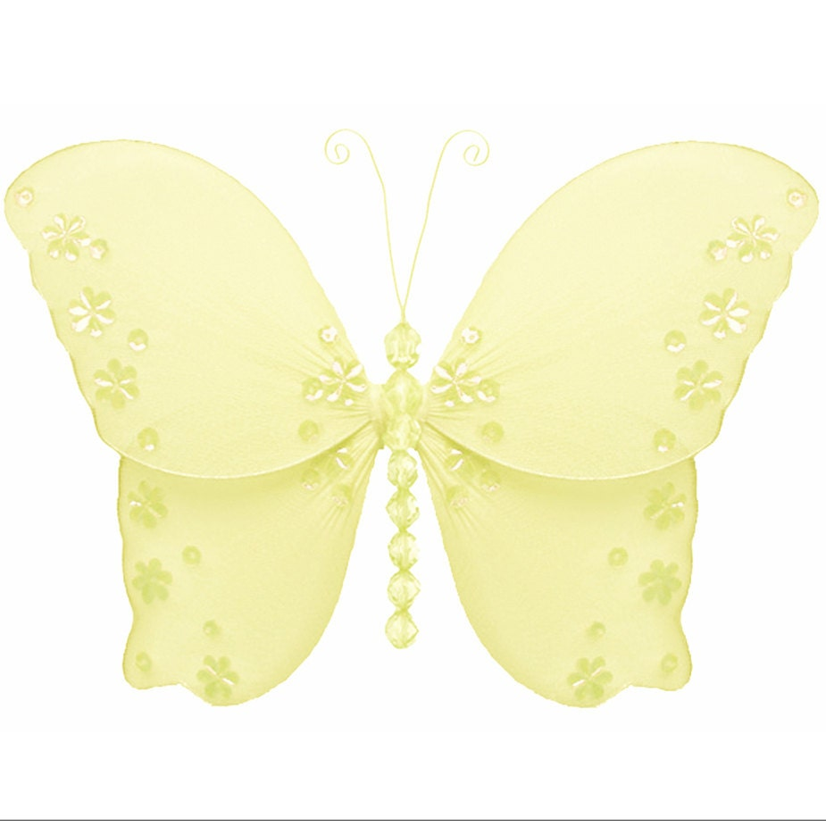 Butterfly Decorations Yellow Butterflies Decor Hanging Wall