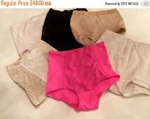 Sale Vintage underwear 1950s underwear tummy cinchers size small lot of underwear vintage lingerie 50s undies 6 pairs 1950s panties