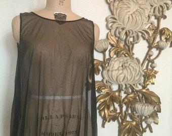 Fall sale 1960s lingerie sheer nightie vintage lingerie 1960s teddie size medium see through dress 60s mini dress