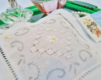 Embroidered Organic Lavender Sachet