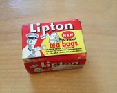 Midcentury Dollhouse Supplies Lipton Tea Box