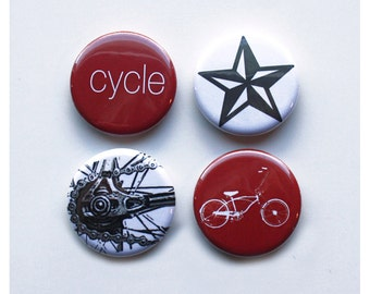 Magnet Pack Set of 4 Bike Fridge Magnets
