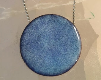 Large Torch Enamel Pendant Necklace