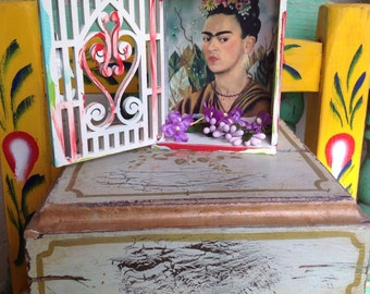 Frida kahlo mini shrine assemblage alter