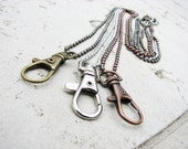Swivel Clasp Necklace for Stitch Markers or Charms with Ball Chain, Lanyard