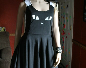 Kitty Cat Skater Dress Circle Skirt Cosplay Costume Custom your size