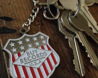BUY RECORDS Keychain by Print Mafia®