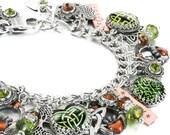 Celtic Charm Bracelet, Celtic Bracelet, St. Patricks Day, Lucky Bracelet, Claddagh Jewelry, Celtic Jewelry, Irish Jewelry
