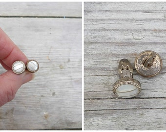 Vintage Antique 1890/1900 victorian French mother of shell  cuff links