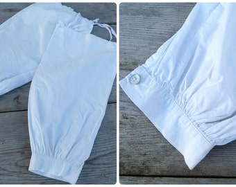 Vintage Edwardian French white cotton part of sleeves to protect clothes