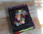 Scrappy Hexagons Quilt Block Journal - COMPOSITION Notebook Book Cover - urban Gypsy