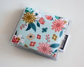 Handmade Vinyl Moo Square Card Holder - Foundry / case, vinyl, snap, wallet, paper, mini card case, moo case, square, floral, pretty