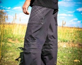 Pacha Play Mens Pants- Black Straight Leg- Mens' Clothing- Festival- Stretch- Ninja- Burner- Dance- urban jedi
