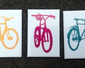 Joy Ride - Bicycle Silhouette Magnet Set - Bike Art