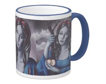 Snow White Mug Fairy Tale Mug Coffee Mug Snow White Cup Fantasy Art Mug Poison Apple Mug Fairy Tale Cup