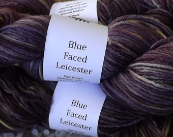 Blue faced Leicester Wool-Eggplant 502