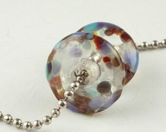 Lampwork Glass Bead, Handmade Lampwork Bead set, Handmade Beads, Disk Lampwork, Lampwork Bead Pair, earring bead pair