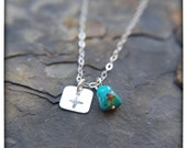 True North Charm Necklace with Turquoise