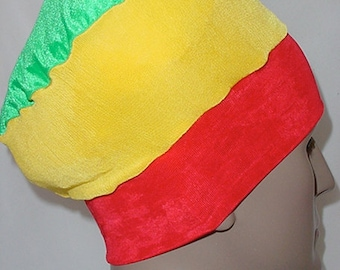Natural Hair Accessories-Crown-Rasta Hat-Red Yellow Green-RYG